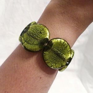 Lime Green Marble Stone Bracelet